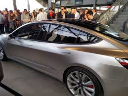 tesla inside roof model 3 shows glass roof shots and new steering at tesla q3 party