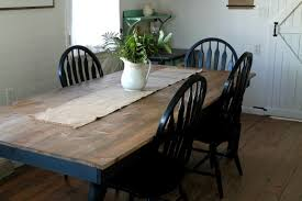 white farmhouse table black chairs black and white farmhouse kitchen update knick of time