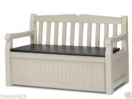 Garden Storage Bench Wood Outdoor Storage Bench Ebay
