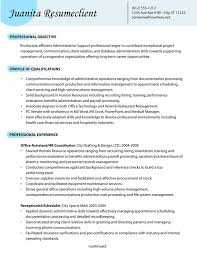 Resume For It Support Administrative Resume Example Of An Administrative Support Resume