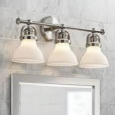brushed nickel bathroom light fixtures bathroom light fixtures vanity lights ls plus