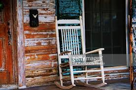 old front porch and rocking chair stock photo getty images