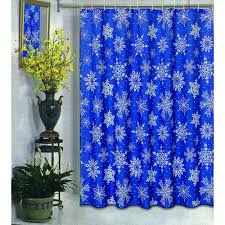 Carnation Home Cleaning Carnation Home Fashions Snowflake Blue Winter Fabric Shower