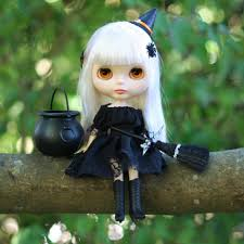 halloween doll wig witch dress costume for blythe u0026 pullip dolls black halloween