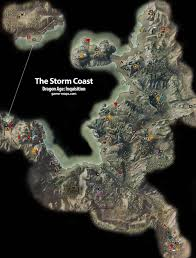 Storm Map The Storm Coast Dragon Age Inquisition Game Maps Com