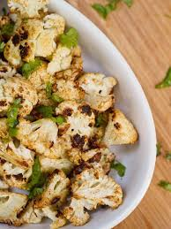 oven roasted cauliflower with cumin and coriander gluten free vegan