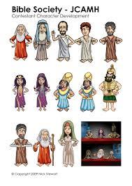 nick stewart animates character development sheets for bible