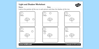 light and shadows lesson plans light and shadow worksheet light and shadow light and dark