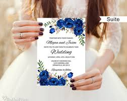 royal blue wedding invitations royal wedding invite etsy