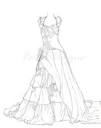 coloring pages dresses chuckbutt com