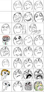 Meme Face List - rage comic faces le rage comics