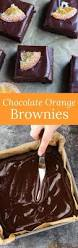 chocolate orange brownies recipe baked by an introvert