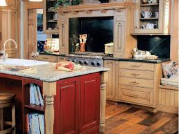 Red Kitchen With White Cabinets Staining Kitchen Cabinets Pictures Ideas U0026 Tips From Hgtv Hgtv