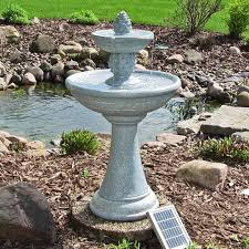 water fountain continuous solar 2 pineapple tiered outdoor patio