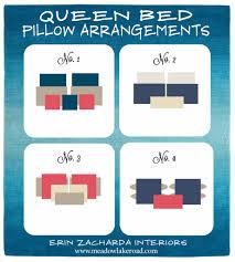 Bedroom Arrangement Bed Pillow Arrangement Ideas Pillow Arrangement Queen Beds And