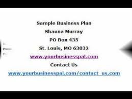 small business plan sample youtube