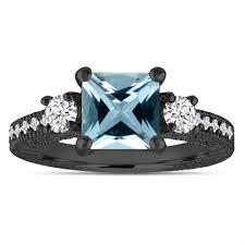 cheap princess cut engagement rings blue aquamarine engagement ring vintage engagement ring diamond