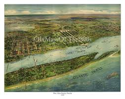 West Palm Beach Fl Map West Palm Beach Fl In 1915 Bird U0027s Eye View Map Aerial