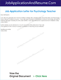 Sir Or Madam Cover Letter Job Application Letter For Psychology Graduate Jaar Head Hunters