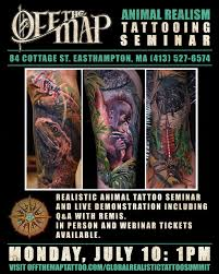 live events realistic animal tattooing seminar tattoonow