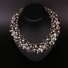 rhinestone collar necklace images 2018 vintage crystal bib statement necklace alloy collar necklaces jpg