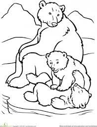 beautiful happy polar bear family coloring animal
