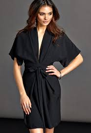 make way karmen kimono dress black bubbleroom