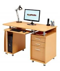 Office Computer Desk Emperor Beech Desk With A4 Drawer Piranha Trading