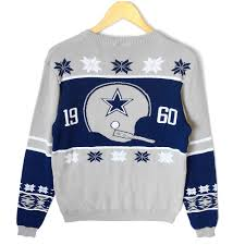 dallas cowboys tacky ugly christmas sweater the ugly sweater shop