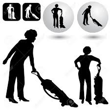 house keeping an image of a housekeeping buttons and silhouettes royalty free