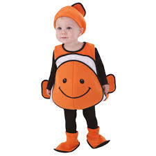 totally ghoul clown fish vest toddler halloween costume size 1t 2t