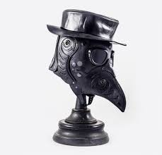 plague doctor hat thumb bob basset plague doctor leather mask with hat1 jpg