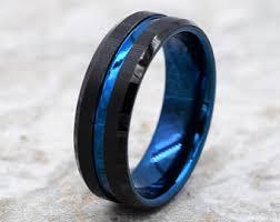 mens blue wedding bands blue wedding band etsy