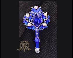 Royal Blue Boutonniere Bling Boutonniere Etsy