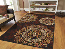 Brown Area Rugs Beige Contemporary Area Rugs Ebay