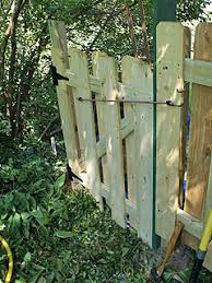 How To Build Backyard Fence How To Build And Hang A Small Gate For A 4 Foot High Fence