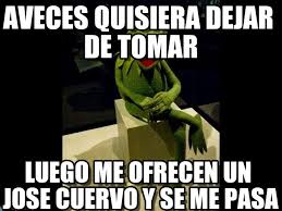 Jose Cuervo Meme - aveces quisiera dejar de tomar rana meme en memegen