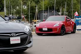 nissan coupe 2013 2015 hyundai genesis coupe vs 2016 nissan 370z autoguide com news