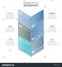6 steps modern clean business infographics stock vector 714861724