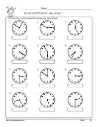 all worksheets telling time to the 5 minutes worksheets free