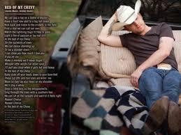 Bed Of My Chevy Lyrics Pin By Kassie Jones On Music Pinterest Chevy