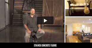 How To Stain A Concrete Basement Floor by Concrete Floors Flooring How To And Ideas The Concrete Network