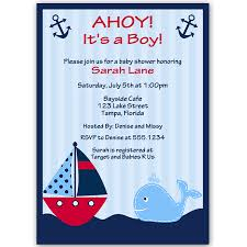 ahoy it u0027s a boy whale red baby shower invitation vertical