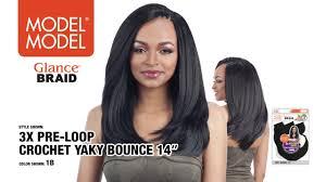 model model crochet hair model model glance braid 3x pre loop crochet yaky bounce 14