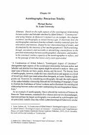 Examples Of An Autobiography Essay Autobiography Precarious Totality Springer