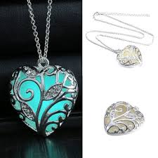 aliexpress heart necklace images Buy glow in the dark heart necklace pendant jpg