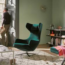 buy grand repos chair in velours by vitra