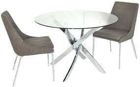 Glass Circular Dining Table Dining Table With 2 Chairs Denniswoo Me