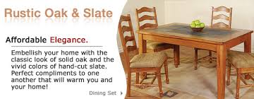 Mexican Dining Room Furniture by Authentic Rustic Oak U0026 Slate Furniture And Mexican Furniture