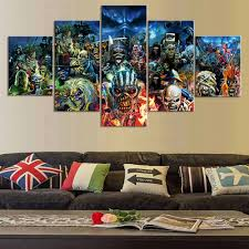home decor wall posters piece print poster iron maiden band paintings on canvas wall art